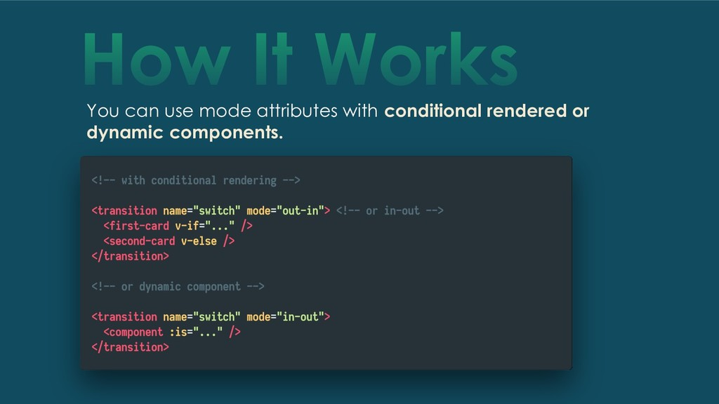 How It Works You can use mode attributes with c...