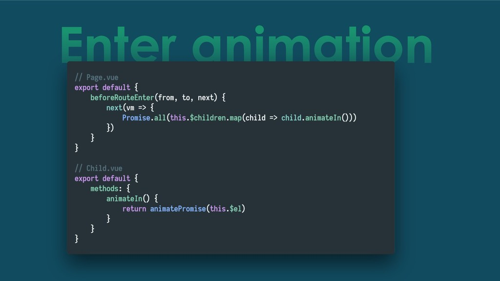 Enter animation