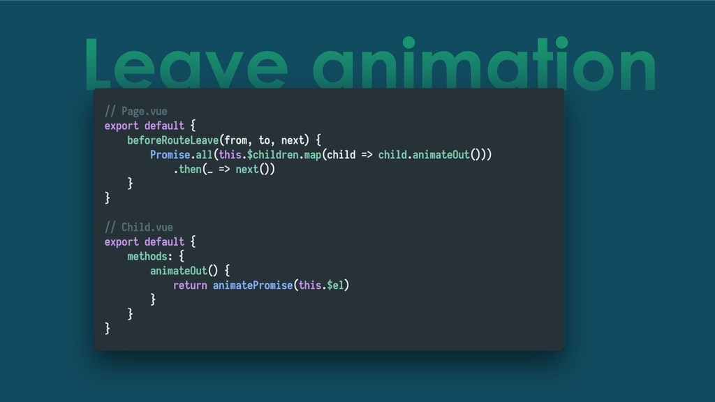 Leave animation