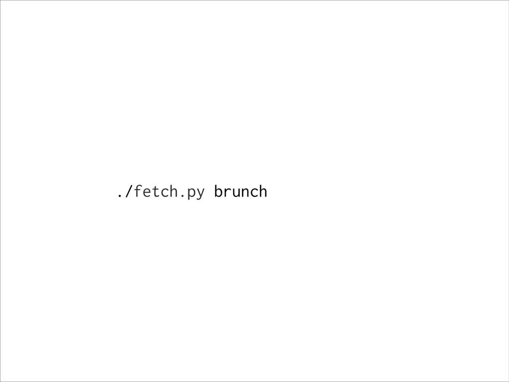 ./fetch.py brunch