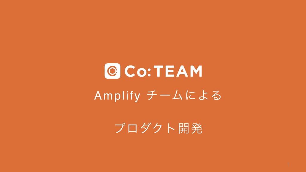 Amplify νʔϜʹΑΔ ϓϩμΫτ։ൃ  1
