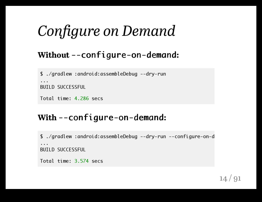 Configure on Demand Without --configure-on-deman...