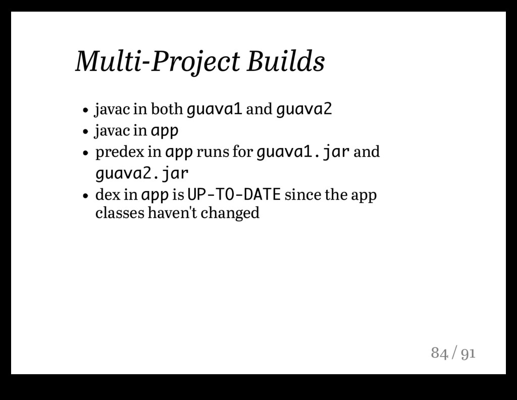 Multi-Project Builds javac in both guava1 and g...