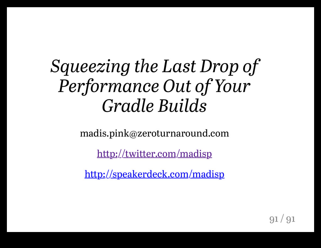 Squeezing the Last Drop of Performance Out of Y...