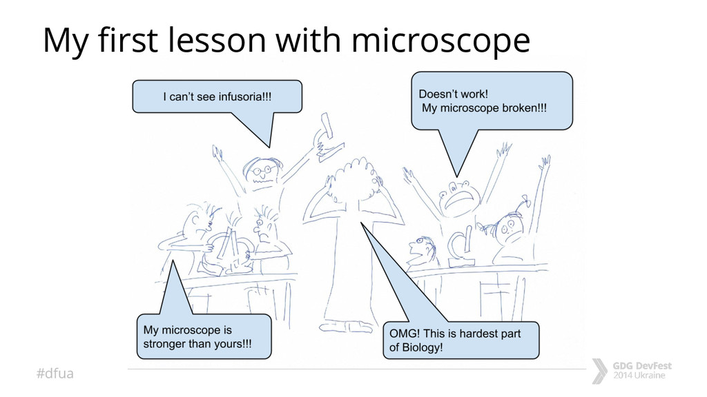 #dfua My first lesson with microscope