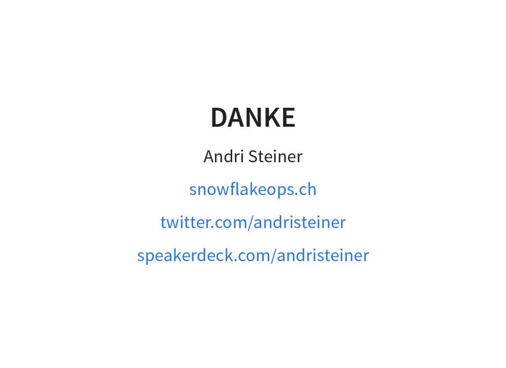 DANKE Andri Steiner snowflakeops.ch twitter.com...