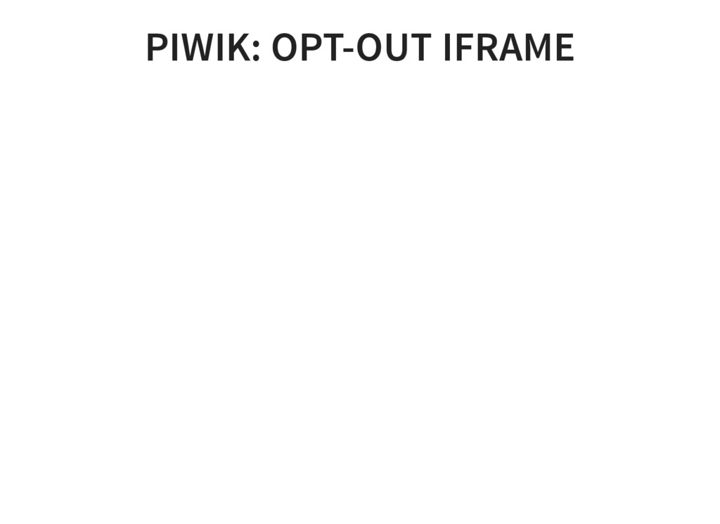PIWIK: OPT-OUT IFRAME