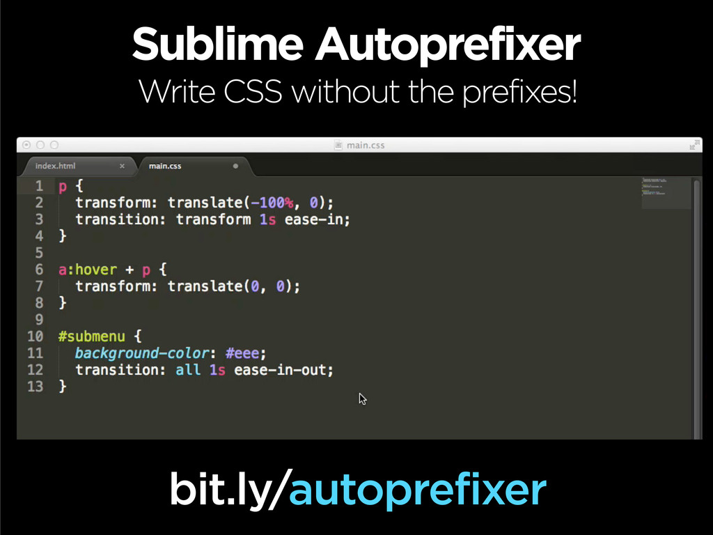 Sublime Autoprefixer Write CSS without the pref...