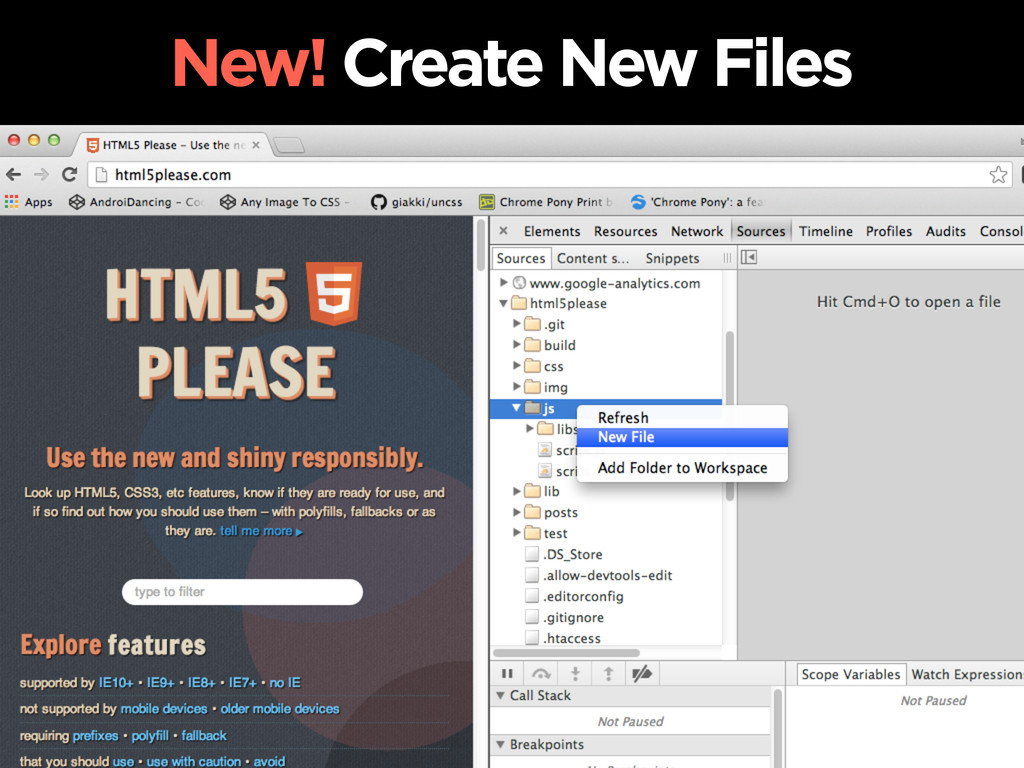 New! Create New Files