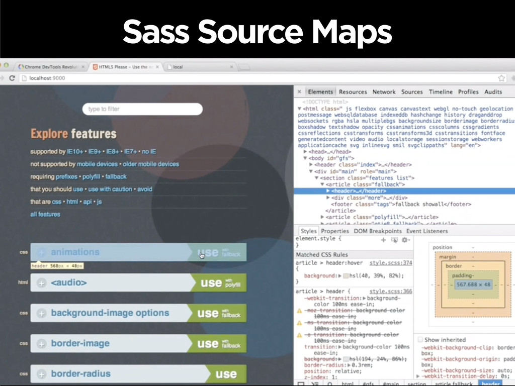 Sass Source Maps