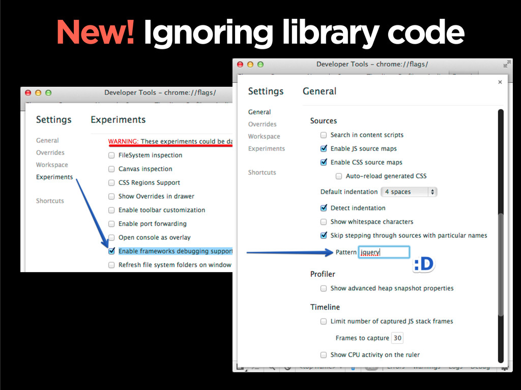 New! Ignoring library code