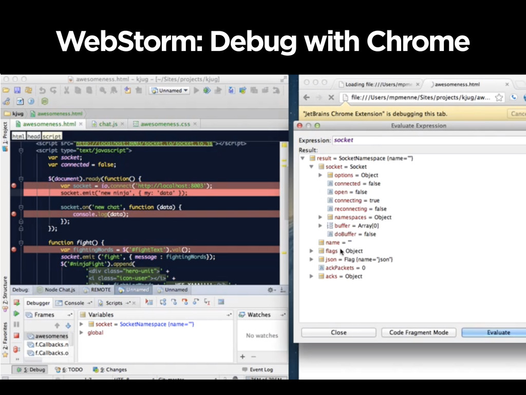 WebStorm: Debug with Chrome