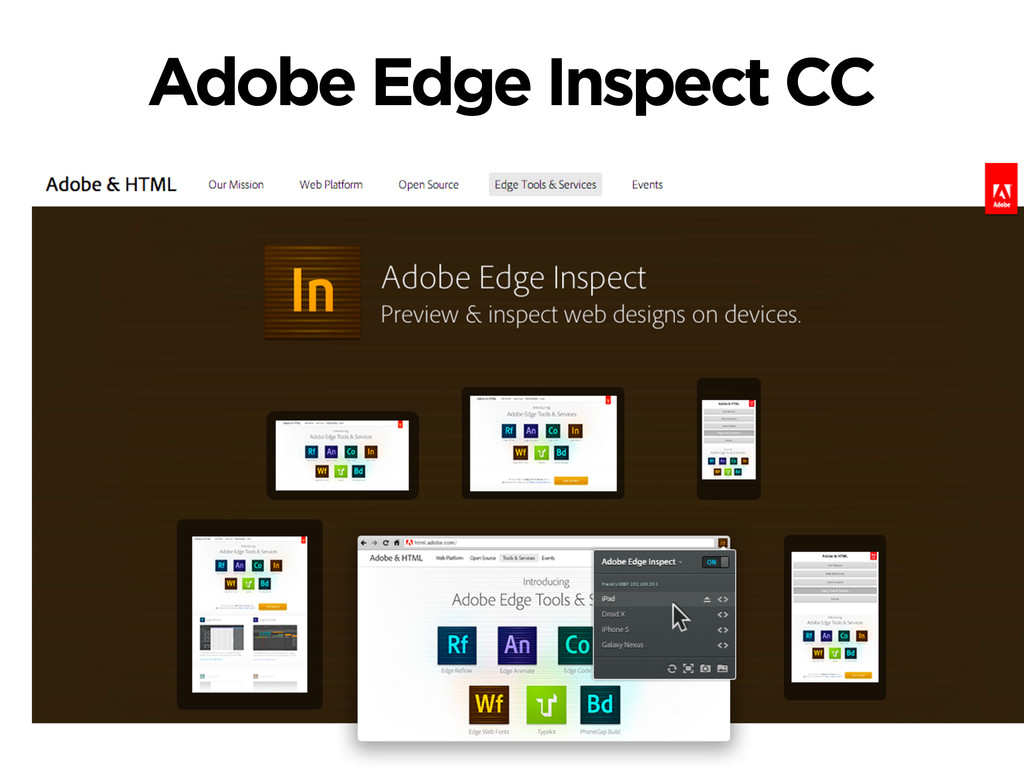 Adobe Edge Inspect CC