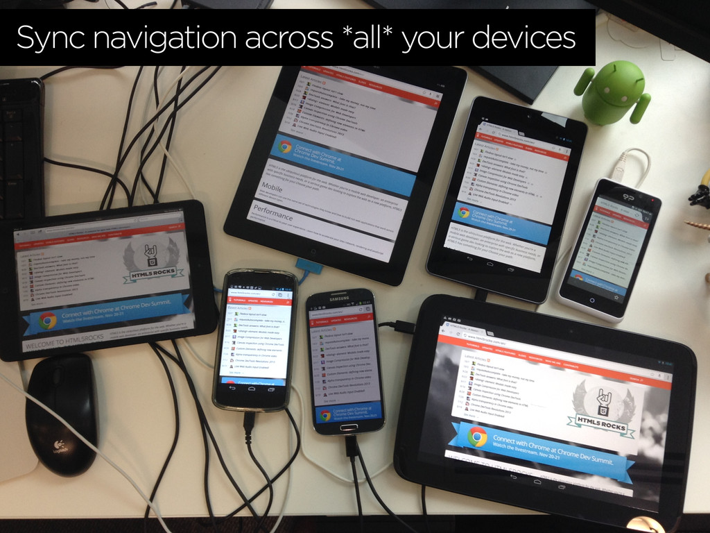 Sync navigation across *all* your devices