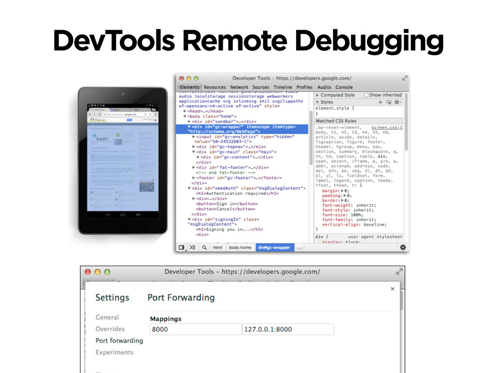 DevTools Remote Debugging
