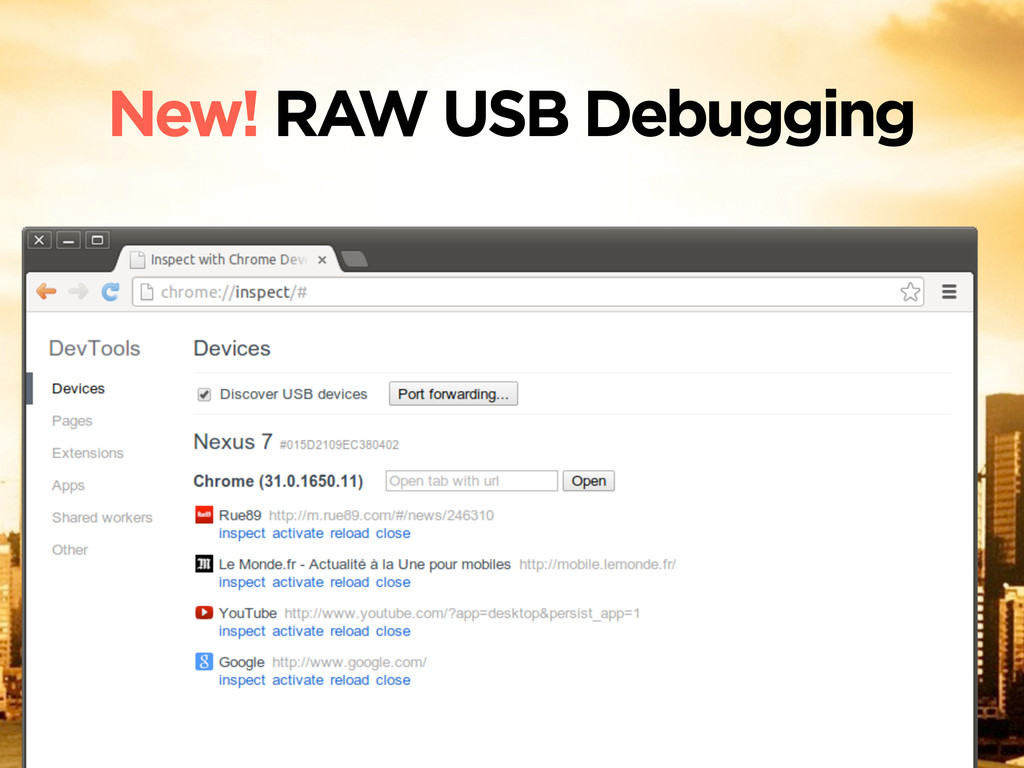 New! RAW USB Debugging