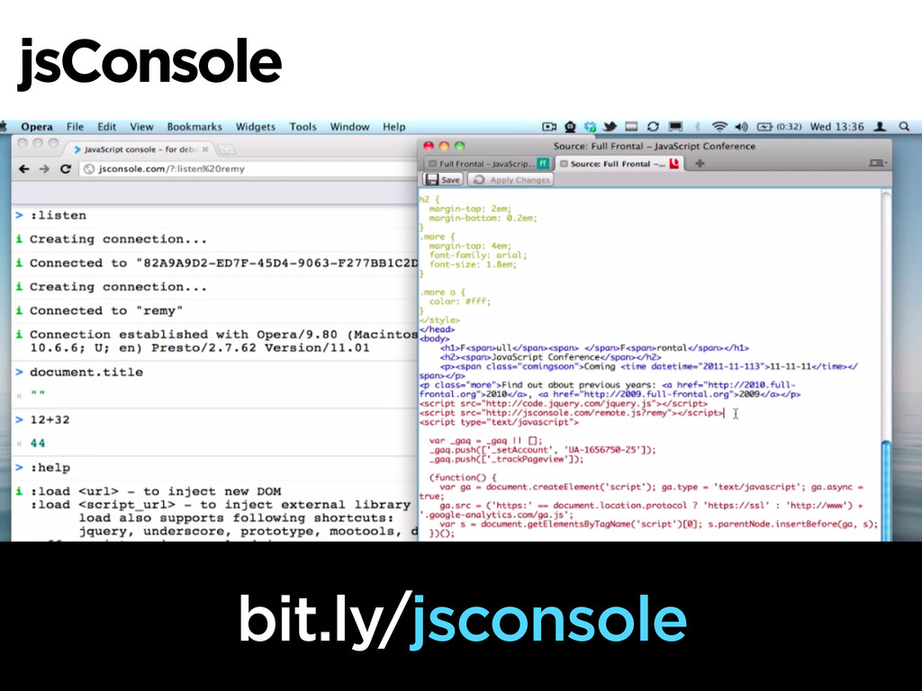 jsConsole bit.ly/jsconsole
