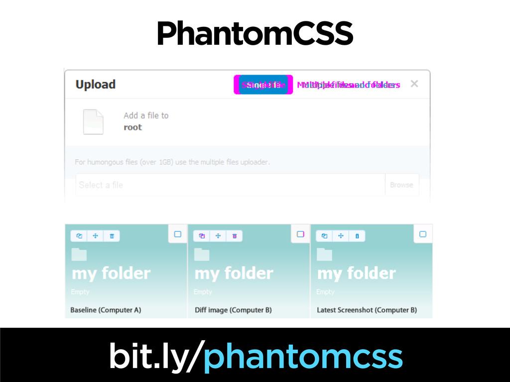 PhantomCSS bit.ly/phantomcss