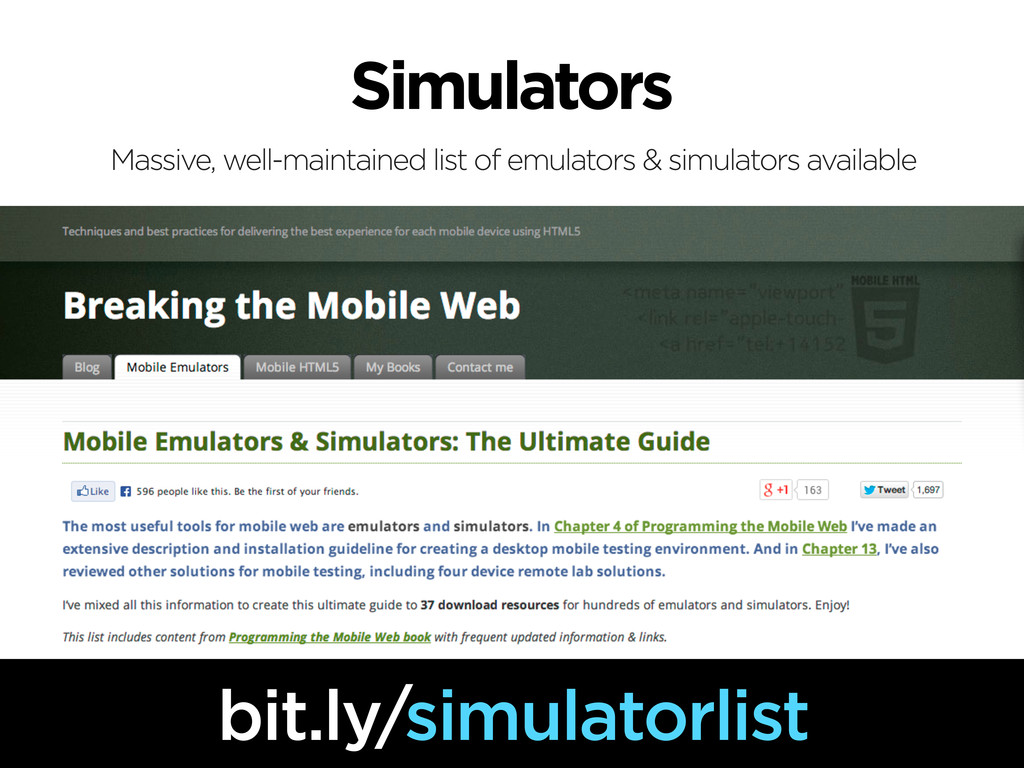 Simulators bit.ly/simulatorlist Massive, well-m...