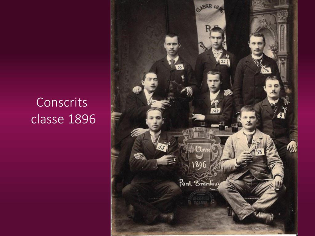 Conscrits classe 1896