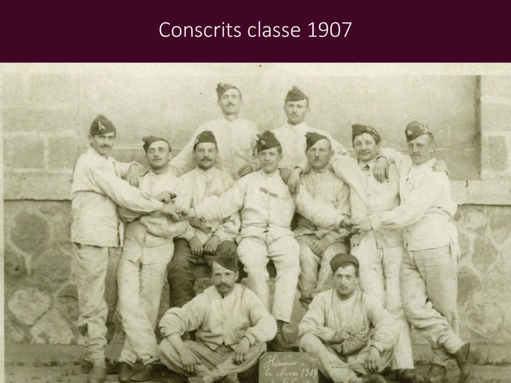 Conscrits classe 1907