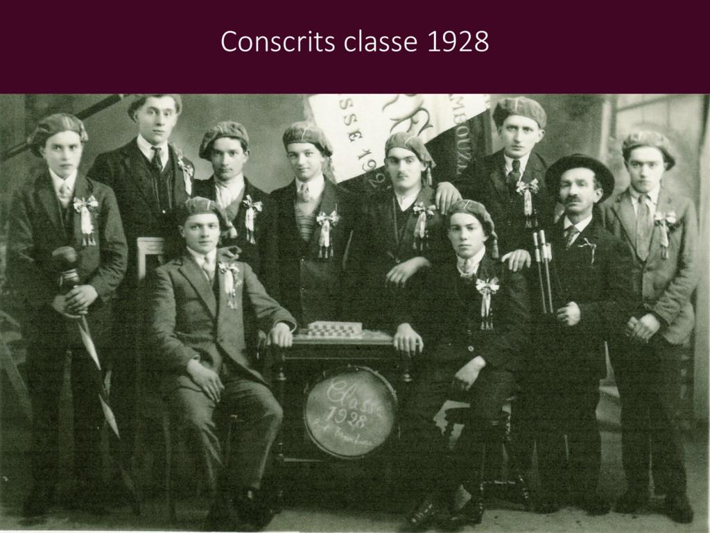 Conscrits classe 1928