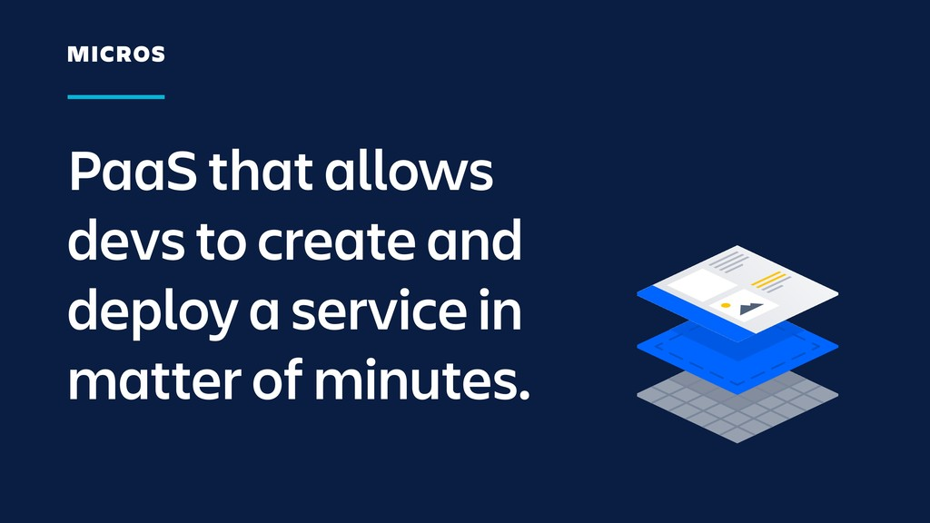 PaaS that allows devs to create and deploy a se...