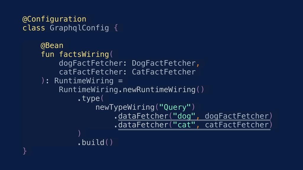 @Configuration class GraphqlConfig { @Bean fun ...