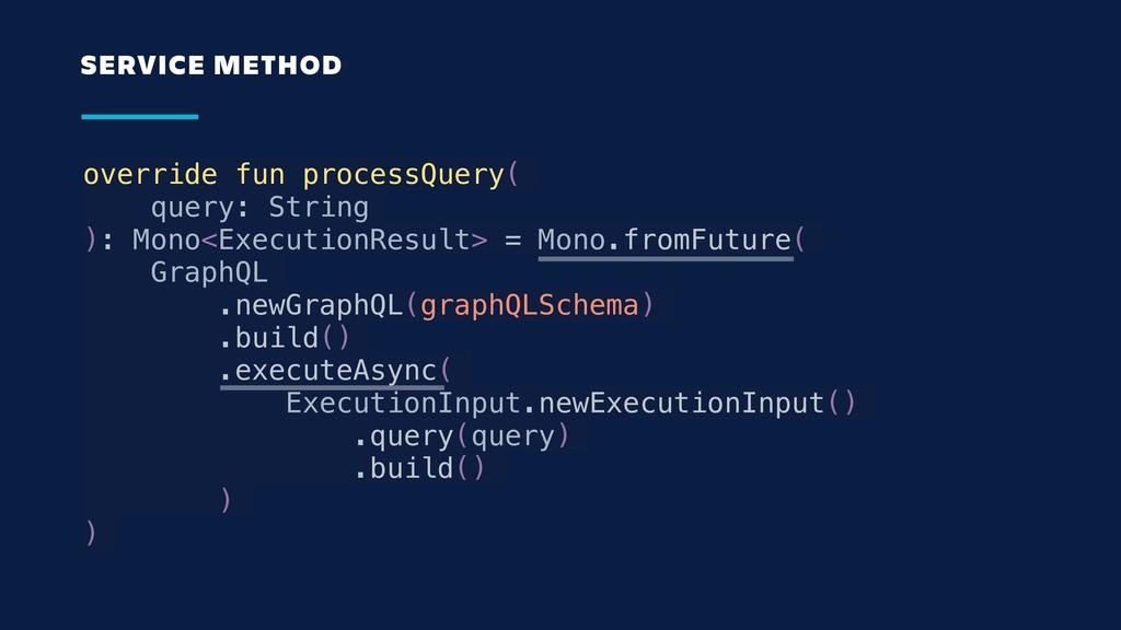 override fun processQuery( query: String ): Mon...