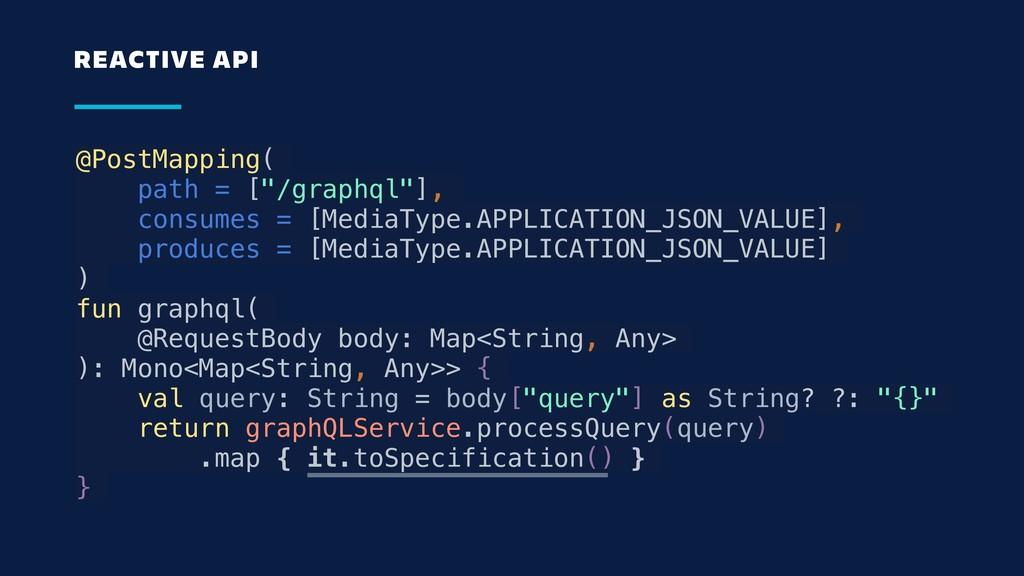 """@PostMapping( path = [""""/graphql""""], consumes = [..."""