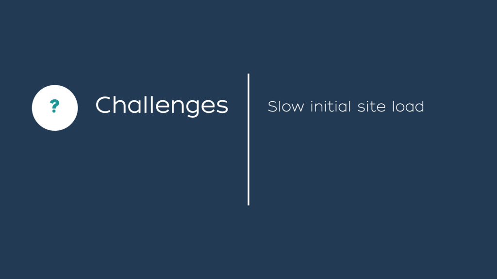 Challenges Slow initial site load ` ?