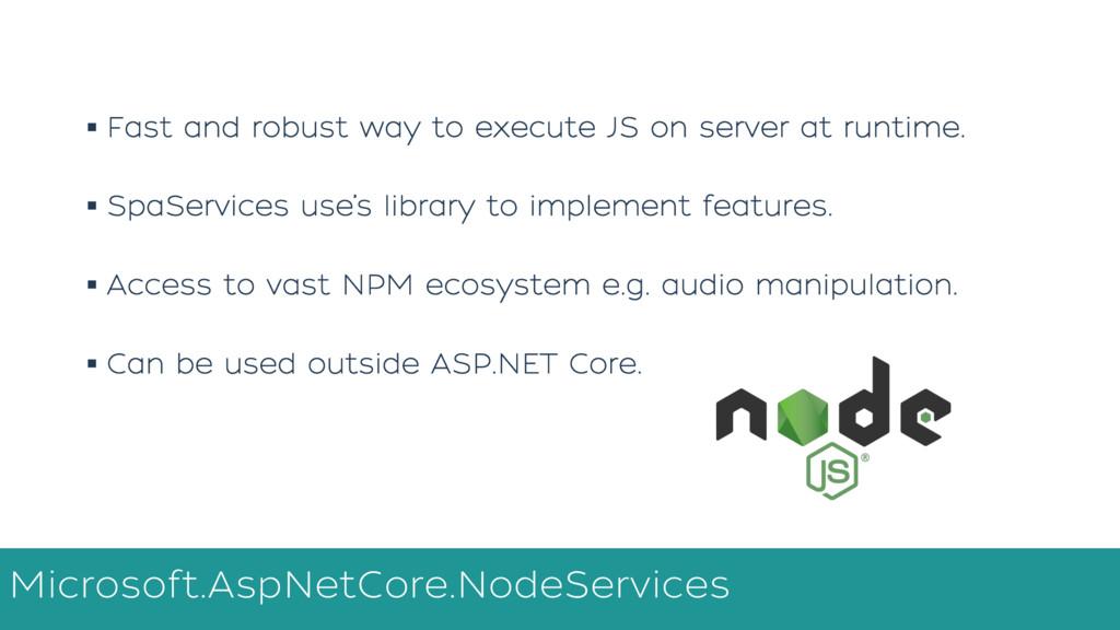 Microsoft.AspNetCore.NodeServices NET Core Proc...
