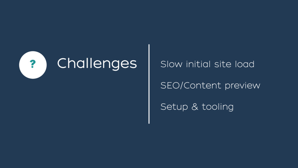 Setup & tooling SEO/Content preview Challenges ...