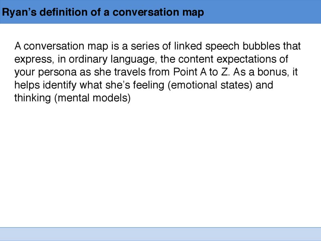 Ryan's definition of a conversation map A conve...
