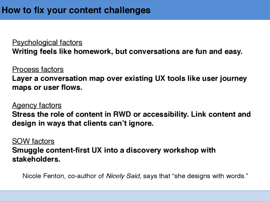 How to fix your content challenges Psychologica...