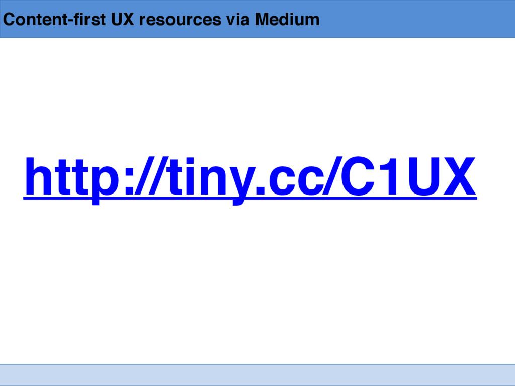 Content-first UX resources via Medium http://ti...