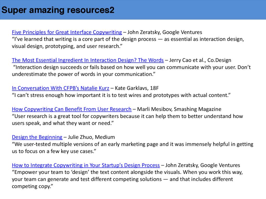 Super amazing resources2 Five Principles ...