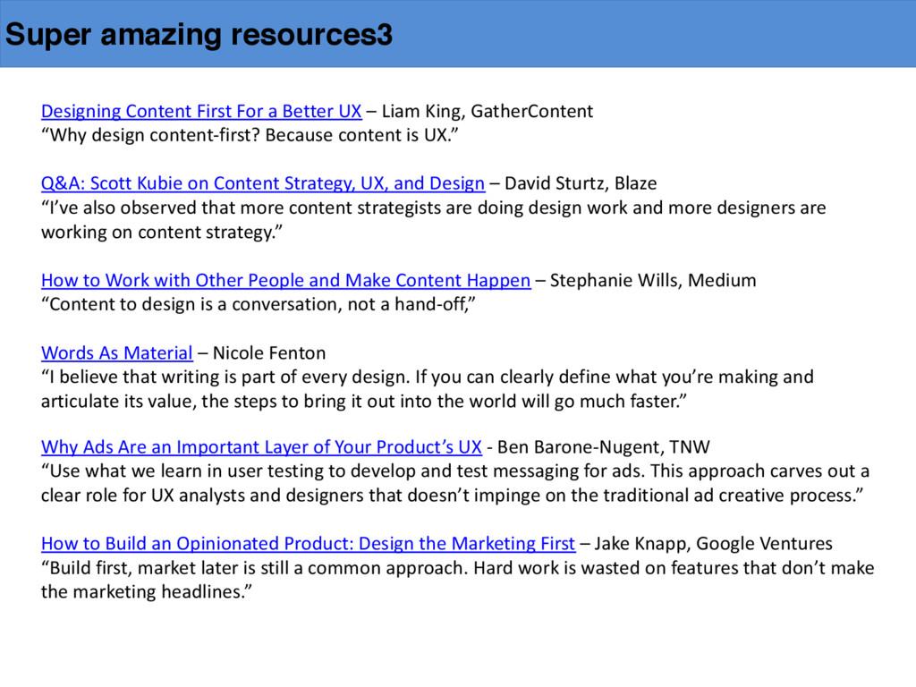 Super amazing resources3 Designing Content...