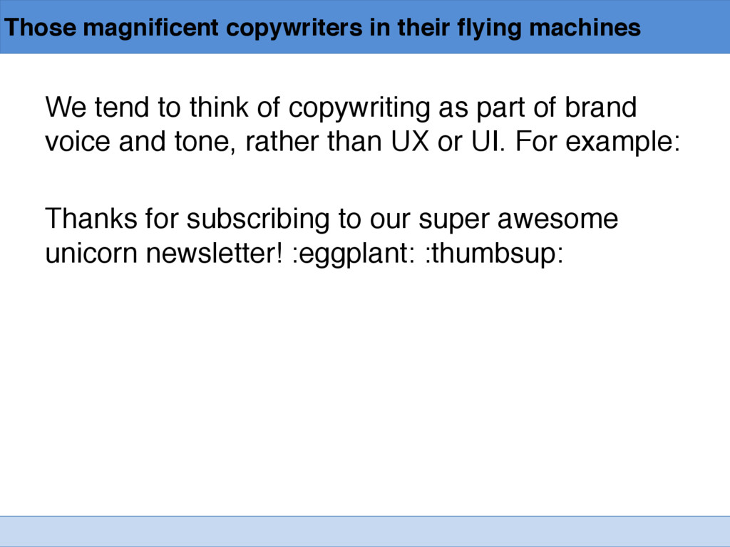 Those magnificent copywriters in their flying m...