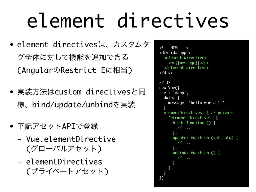 element directives • element directivesɺΧελϜλ ...