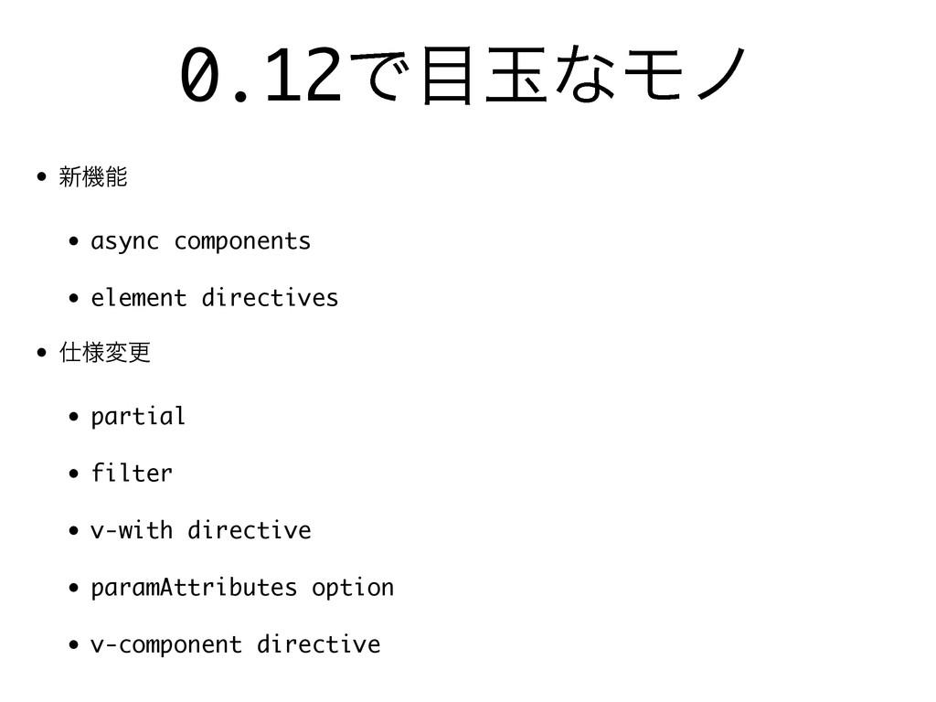 0.12ͰۄͳϞϊ • ৽ػ • async components • element d...
