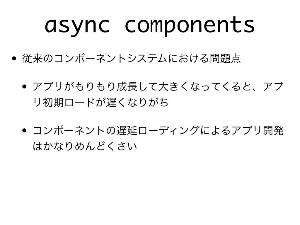 async components • ैདྷͷίϯϙʔωϯτγεςϜʹ͓͚Δ • ΞϓϦ͕...