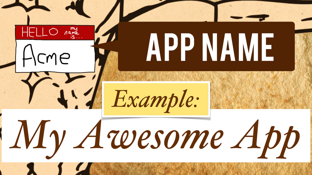 App Name My Awesome App Example:
