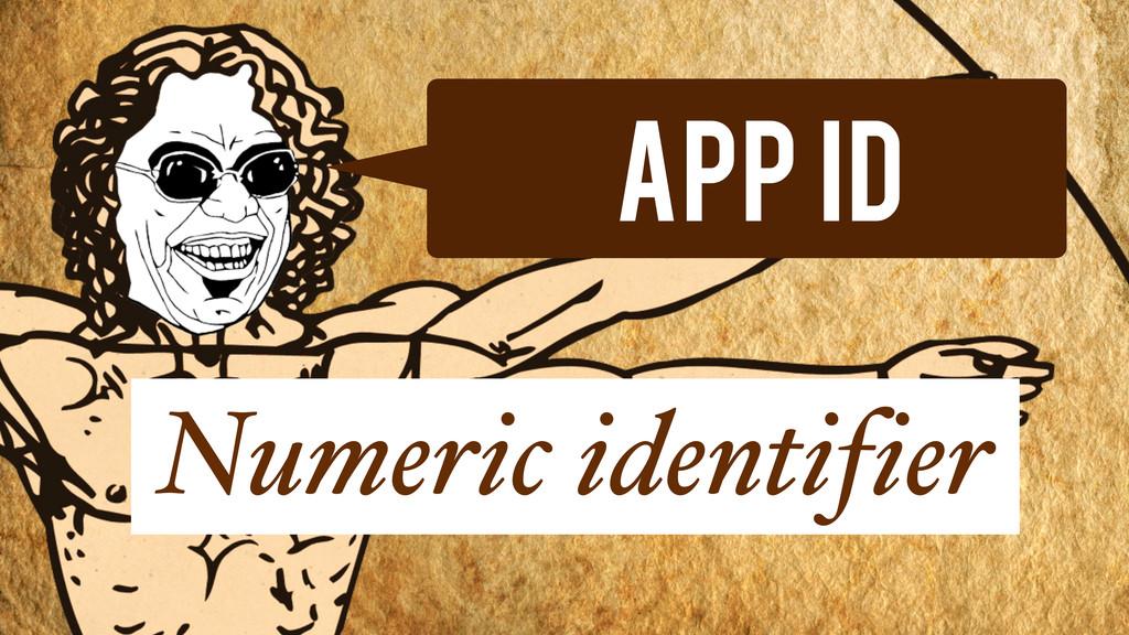 App Id Numeric identifier