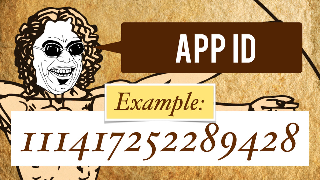 App Id 111417252289428 Example: