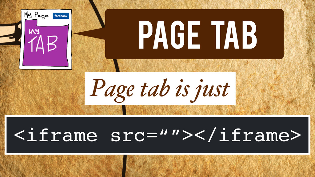 "Page Tab Page tab is just <iframe src=""""></ifra..."