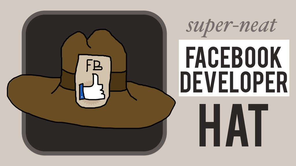 Hat Facebook Developer super-neat