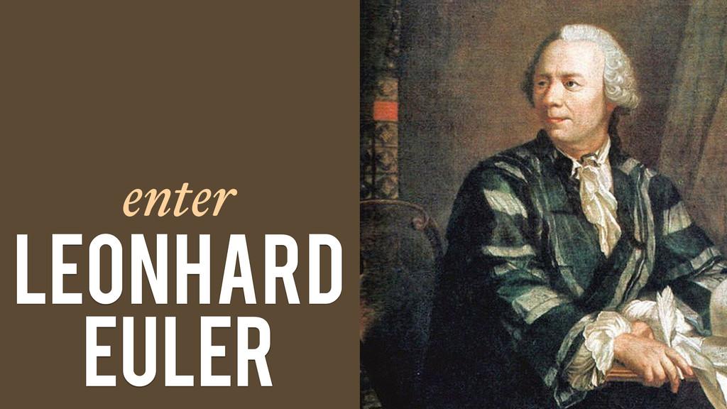 enter Leonhard Euler