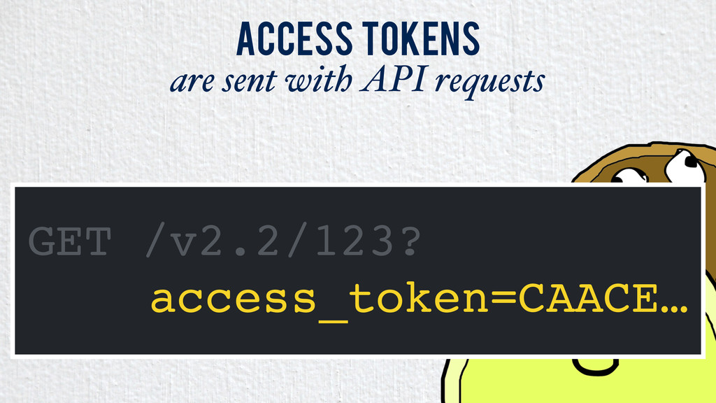 Access Tokens are sent with API requests GET /v...