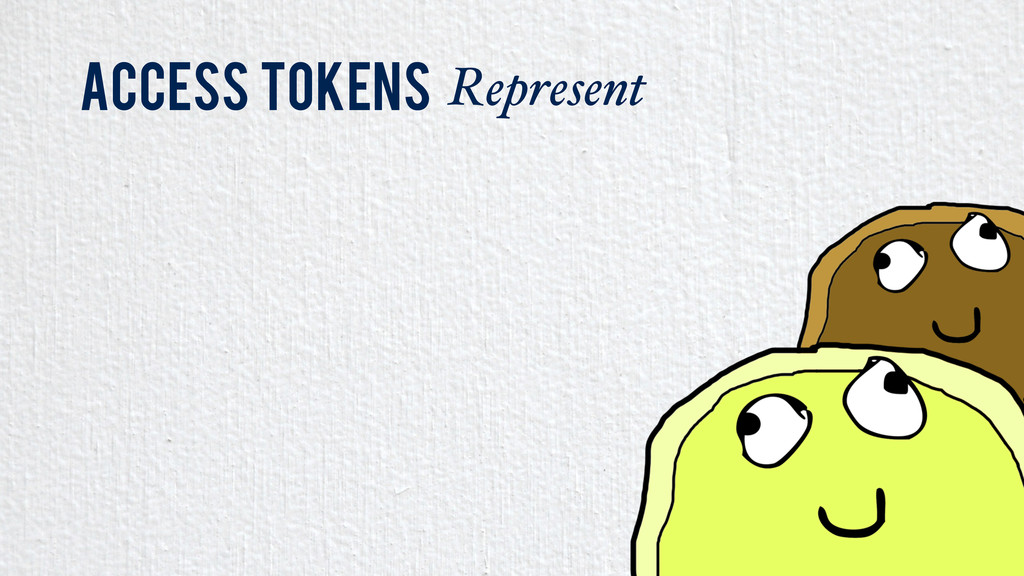 Access Tokens Represent